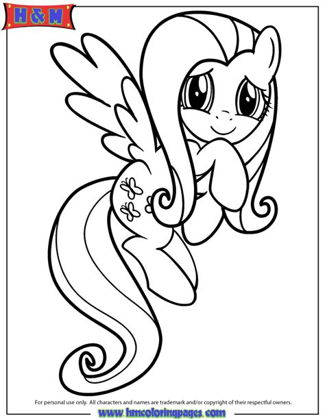 friendship is magic fluttershy coloring page h m