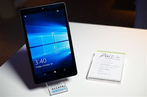mobile tablet phone on with the 8 inch alcatel onetouch pixi 3 windows