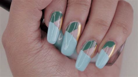 geometric pattern nails must try elegant geometric pattern nails tutorial for your
