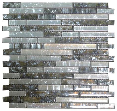 Grey Glass Mosaic Tile Backsplash by W04 Grey Twilight White Shell Glass Mosaic