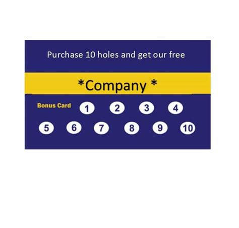 30 Printable Punch Reward Card Templates 101 Free Free Printable Loyalty Card Template