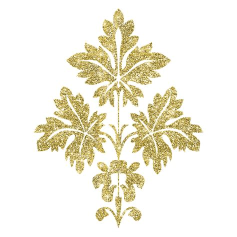 golden pattern png illustration gratuite or authentique argent 233 floraison