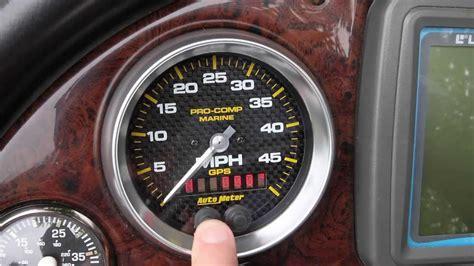 ski boat gps speedometer auto meter gps speedometer installation and usage youtube