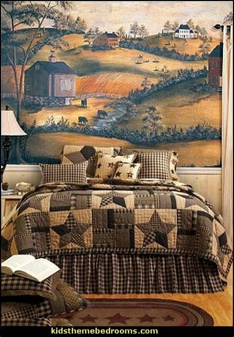 country themed wall decor decorating theme bedrooms maries manor primitive