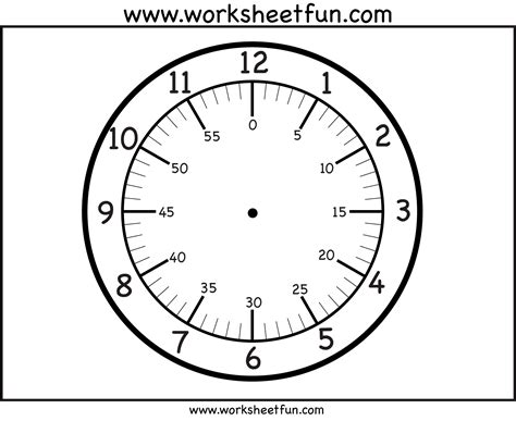 free printable large clock face printable clock face printable worksheets pinterest