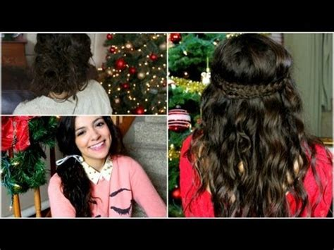 no heat holiday curls + easy hairstyles! youtube