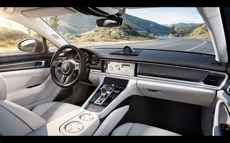 porsche panamera interior 2017 porsche panamera turbo s 2017 wallpapers hd white black