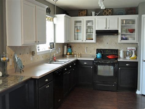 Kitchen Cabinets White Top Black Bottom | 38 black bottom and white top kitchen cabinets new