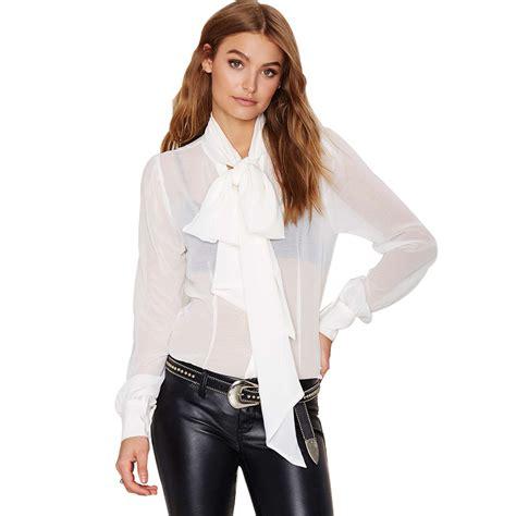 new arravel s blouse white blouse bow collar regular sleeve white lace