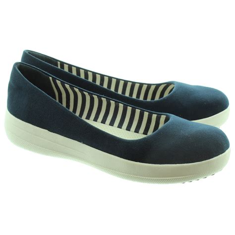 Sporty Shoes fitflop f sporty canvas sporty ballerina pumps in navy