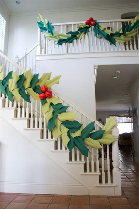 how to make garland for stairs paper garland anything about prepping