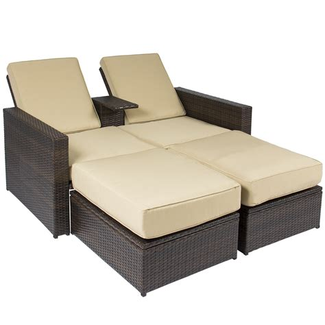 loveseat rattan outdoor 3pc rattan wicker patio love seat lounge chair