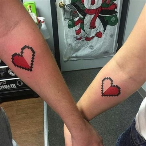 half heart couple tattoos inked together 80 charming matching tattoos for couples