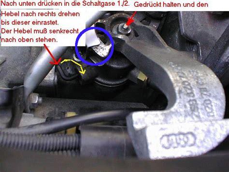 Audi A2 Handbuch by Anleitung Schaltseile Justieren Seite 2 Technik