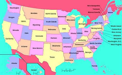 map america showing all states maps of america