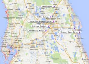 pin central fl map on