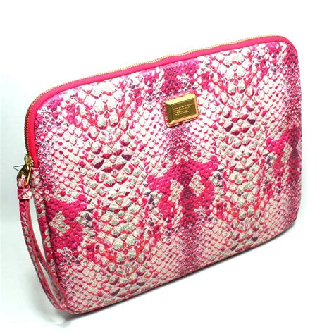 Pink Leather Laptop by Marc By Marc Fluoro Pink Python Multi Leather