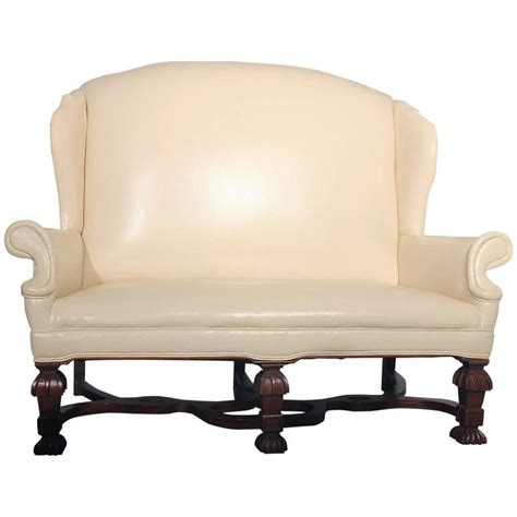wingback settee for sale antique william and mary wingback settee for sale at 1stdibs
