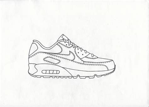 How To Draw Nike Air Max 90 the gallery for gt orange sketch