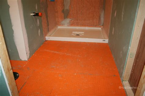 Bathroom Floor Tile Waterproofing Acrylic Shower Base C 233 Ramiques Hugo Inc