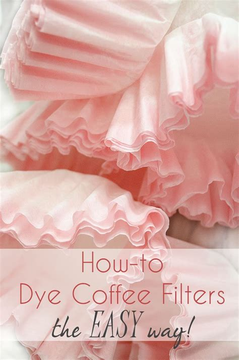 How To Make Paper Flowers Out Of Coffee Filters - best 25 coffee filter crafts ideas on coffee