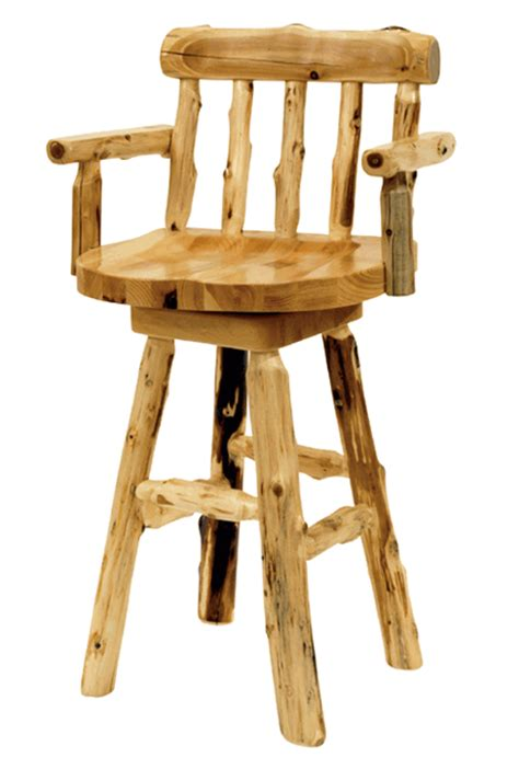 24 inch chairs with arms cedar log furniture 24 inch log counterstool with arms