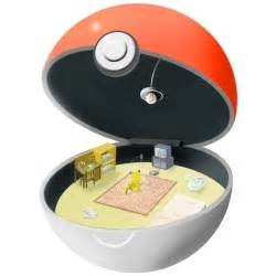 image gallery inside a pokeball