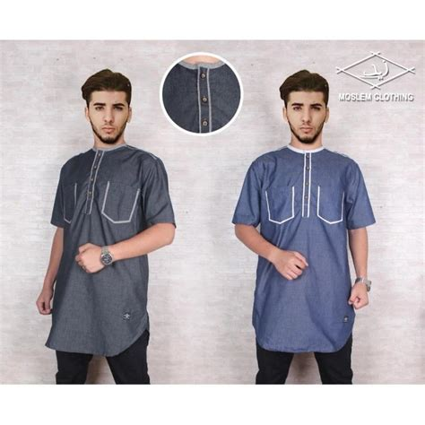 Al Amwa Koko Katun Sanghai jual gamis al amwa best seller baju koko muslim by baju