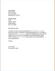 Bank Proxy Letter Authorization Letter Template For Word Doc Word Excel Templates