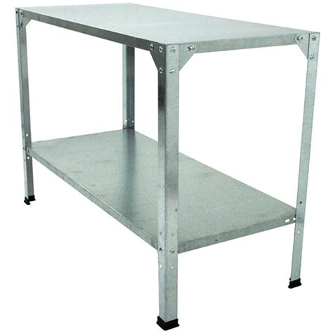 steel potting bench palram galvanized steel 2 level shelf system walmart com