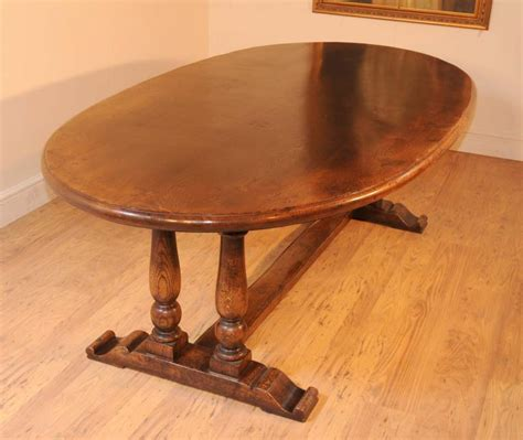 Oval Farmhouse Table by Oval Oak Refectory Table Farmhouse Kitchen Diner Tables