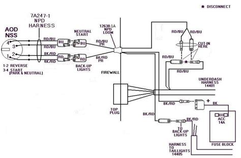 ford diagrams aod neutral safety switch wiring diagram
