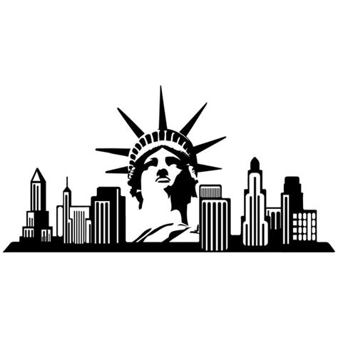 new york skyline wall stencil