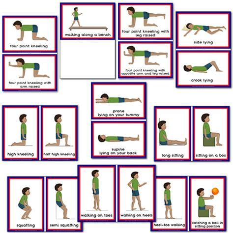 printable exercise flash cards gross motor activities flashcards boys gross motor