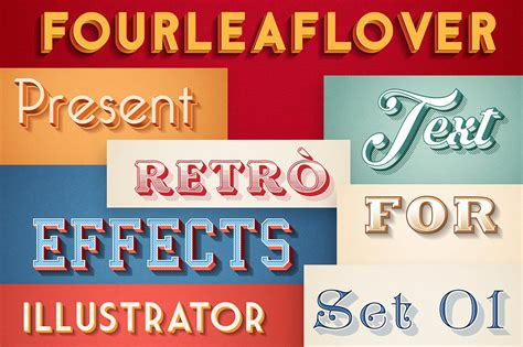 15 of the best illustrator text effects vector patterns 30 retro vintage text effects for illustrator photoshop