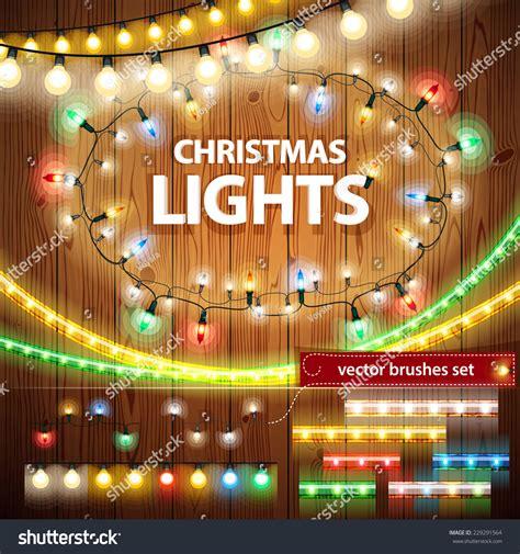 christmas lights decorations set for celebratory design