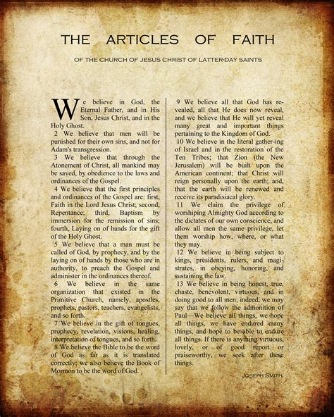 Printable Articles Of Faith | free printable articles of faith lds pins we like