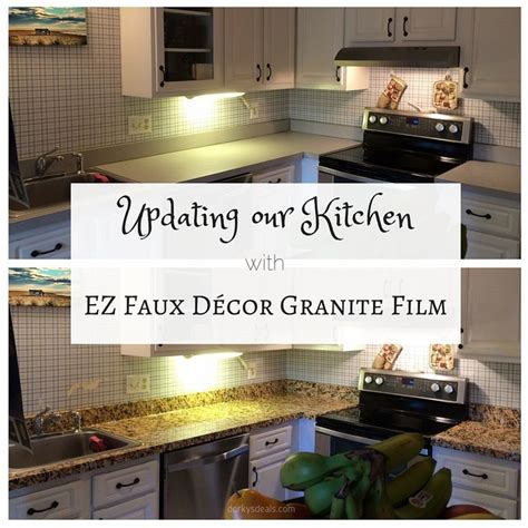Updating our Kitchen with EZ Faux Décor Granite Film