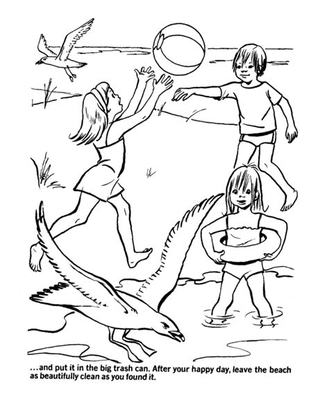 beach scene coloring page az coloring pages