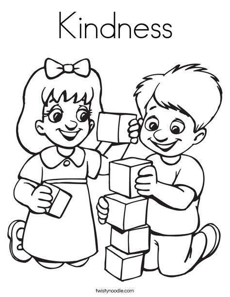 coloring pages showing kindness kindness coloring page twisty noodle