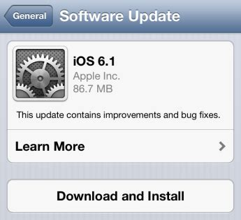 how to download and install ios 6.1 on iphone ipad and