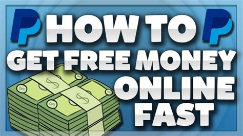 Make Fast Money Online Free - how to get free money on paypal 2017 make money online fast make money own
