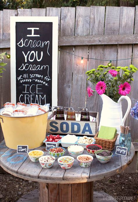 cool backyard party ideas backyard ice cream party summer fun the inspired room