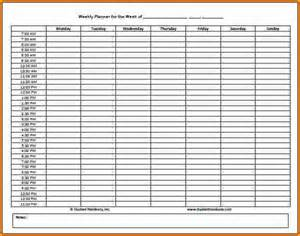 schedule builder template 7 daily schedule maker authorization letter