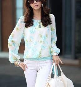 Blouse Yr Blouse Wanita Lembut Biru Murah jaket rompi wanita terbaru model terbaru jual murah import kerja