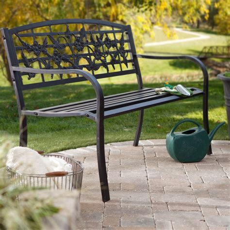 steel garden bench steel garden bench pretty as a picture garden bench with