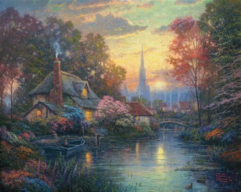 Nanette S Cottage Limited Edition Art The Thomas Kinkade Cottage Painting