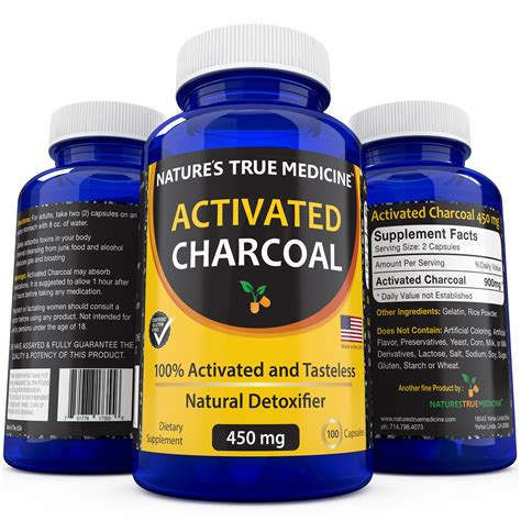 Detox Makes You Gassy by Activated Charcoal Capsules Detoxifier