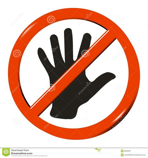 No Touching no touching royalty free stock photography image 8262087