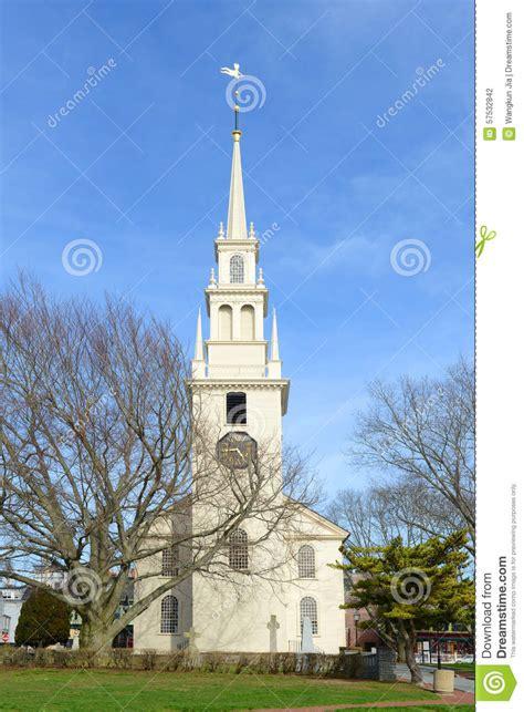 Wonderful Churches In Rhode Island #2: Newport-trinity-church-rhode-island-usa-queen-anne-square-historic-parish-built-57532842.jpg